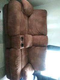 brown leather 2-seat sofa La Joya, 78560