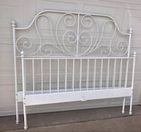 white metal bed headboard and footboard Royse City, 75189