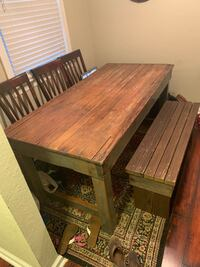 Farm table n bench