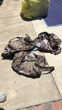 Camouflage duffel bags