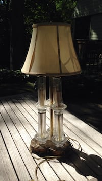 LAMP-very beautiful  silk lamp shade with crystal base. Downers Grove, 60515