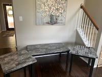 Marble coffee table along woth end tables San Antonio, 78253