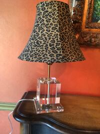 "Crystal lamp with silk shade 22 "" total height  Coral Springs, 33076"