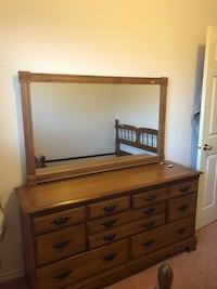brown wooden dresser with mirror Abbotsford, V2T