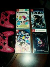 4 switch games and 2 controllers   NO SYSTEM 130.0 Louisville, 40215