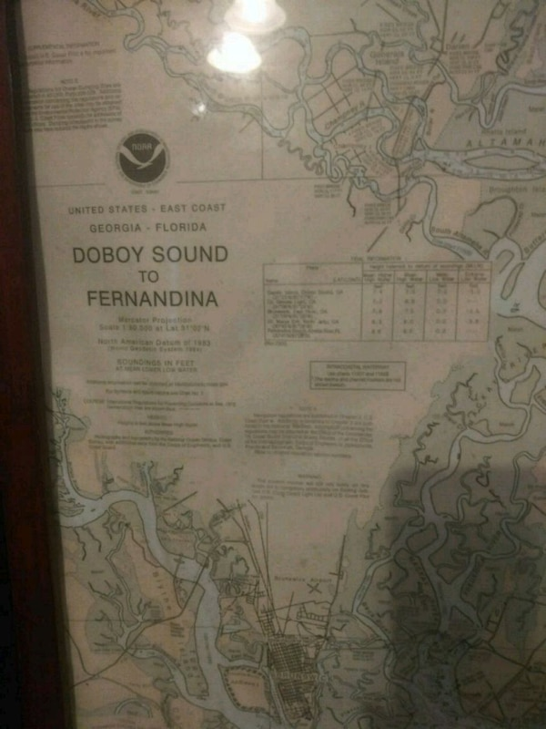 Used framed map for sale in Savannah letgo