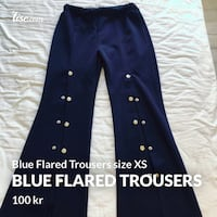 Blue Flared Trousers size XS  Oslo, 0165