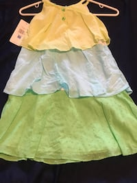toddler's yellow and green dress 568 mi
