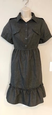 NWOT Vertigo Paris charcoal gray babydoll style dress. Sz L  Las Vegas, 89138