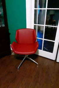 Modern red leather lounge chairs Savannah, 31401