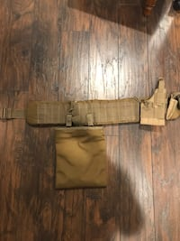 Tan airsoft combat belt with mag pouch and condor holster Villa Park, 92861