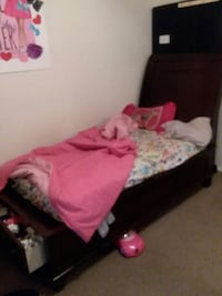 Twin  bed with drawer bed frame 1211 mi