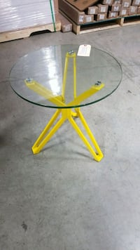 Glass top little table - brand new Toronto, M6M 3K8