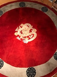 "98"" Wool Chinese Design Rug"