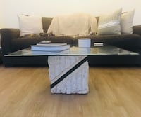 Marble base coffee table with glass top Chicago, 60610