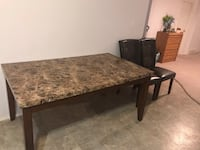 Brown wooden table with 4 chairs 350 obo Lethbridge, T1H 3S9
