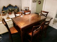 Dinning tabl with 8 chairs and custom glass top! Garden Grove, 92841