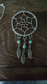 silver and teal beaded dream catcher Beaumont, 92223