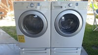 Lg tromm washer and gas dryer with pedestal complete new Temecula