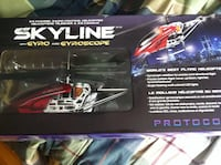 Black and red rc helicopter box