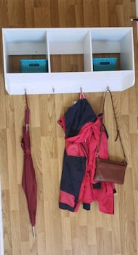 Wall Mounted Coat Rack Storage Shelf Cubby