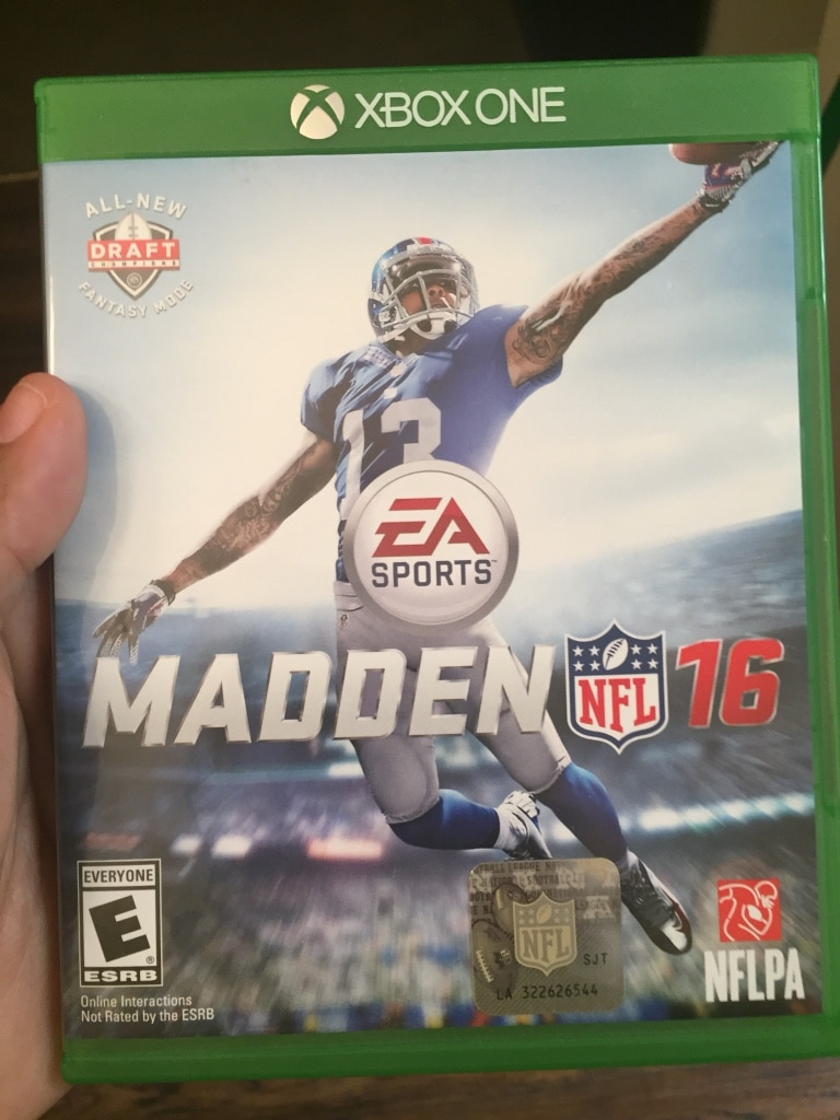 Madden NFL 16 Xbox One game case