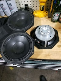 "3 new 8"" b&c new voice speakers"