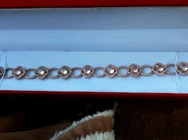 Rose gold sterling bracelet