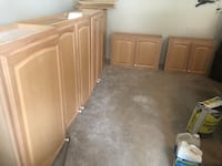 Free upper cabinets with shelves.  4 large shelves and 2 smaller ones.  I just need a pickup truck to haul away miscellaneous items to the dump. Bristow, 20136
