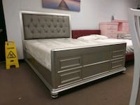 Queen bedwith mattress brand new free delivery same day Miami, 33180