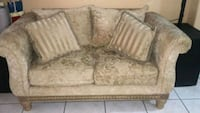 beige and white floral fabric 2-seat sofa Miramar