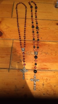 two silver-colored crucifix pendants beaded rosaries Oro-Medonte, L0K