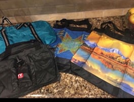 New 2 Duffle and 2 Tote bags