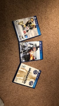 Four assorted ps4 game cases Winnipeg, R2K 1Y5