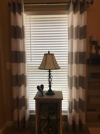 """Taupe and cream 84"""" curtain panels.  $20 for both panels   Fort Mill, 29715"""