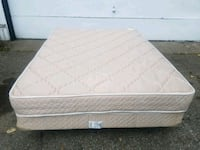 white mattress with white bed frame Crystal