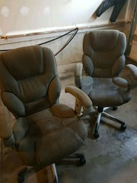brown leather padded rolling chair Toronto, M1L 0G1