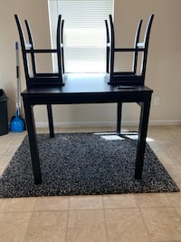 black wooden table with chairs Seat Pleasant, 20743