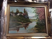 Oil painting with gold frame Toronto, M6M