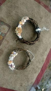 white and brown rope wreath Houston, 77041
