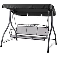 Mainstays Jefferson 3-Person Outdoor Canopy Porch Swing