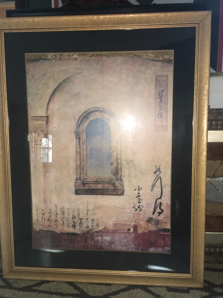 Photo Mediterranean Contemporary Wall Hanging Decor Framed with glass /40