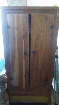 All wood armoire River Rouge