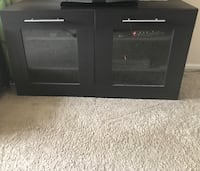 black wooden TV stand with cabinet Herndon, 20171
