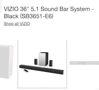 "Vizo 36"" 5.1 sound bar system Florence, 41042"