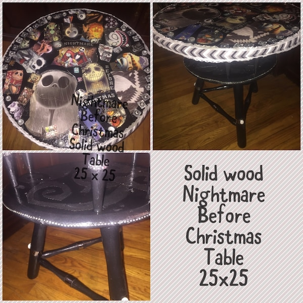 nightmare before christmas solid wood two tier table - Nightmare Before Christmas Furniture
