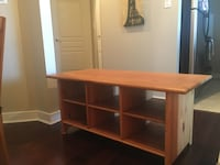 Tv stand or coffe table. Wood. It is very sturdy and has few scratches. Vancouver