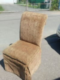 brown and white fabric padded chair Vancouver