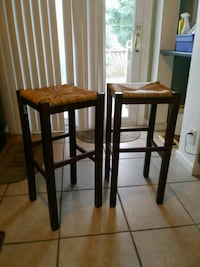 two brown wooden bar stools Essex, 21221