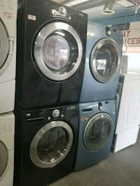 black front-load washer and dryer set Lynwood, 90262